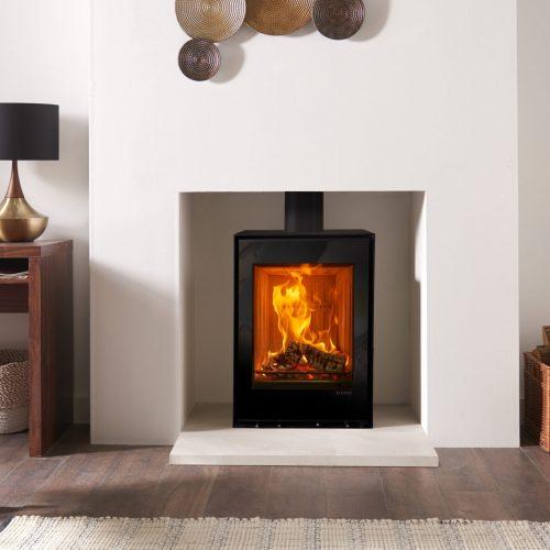 Stovax Freestanding Elise Steel 540T wood burning and multi-fuel stove1